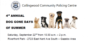 4th Annual Dog Gone Days of Summer – September 22, 10:30am-2:00pm