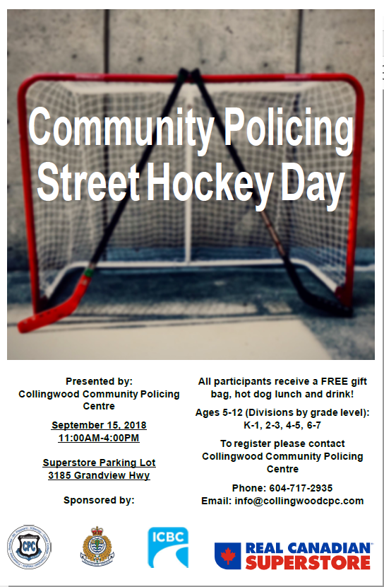Street Hockey, Youth, Collingwood Policing, VPD