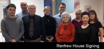 Renfrew House Signing